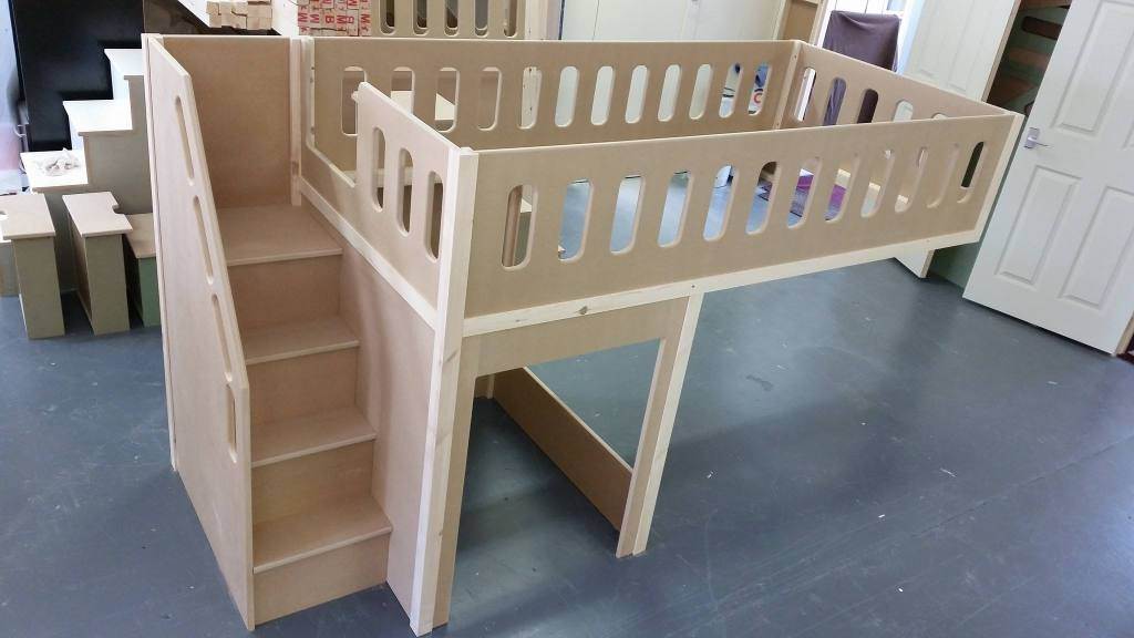 Image Result For Bed Built Over Stair Box: Single Mid Sleeper