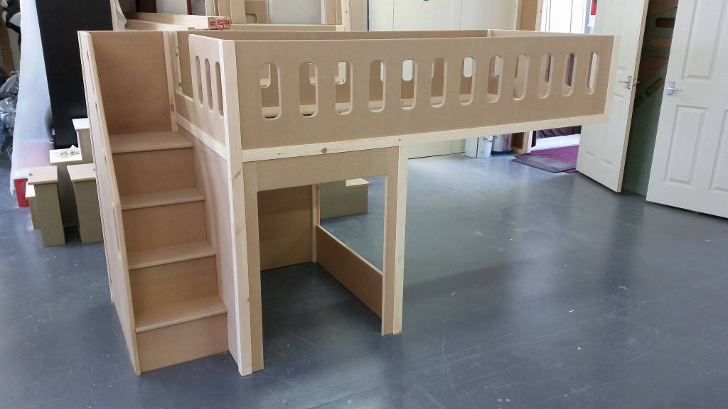Image Result For Bed Built Over Stair Box: Sesame Street Themed Single Bed