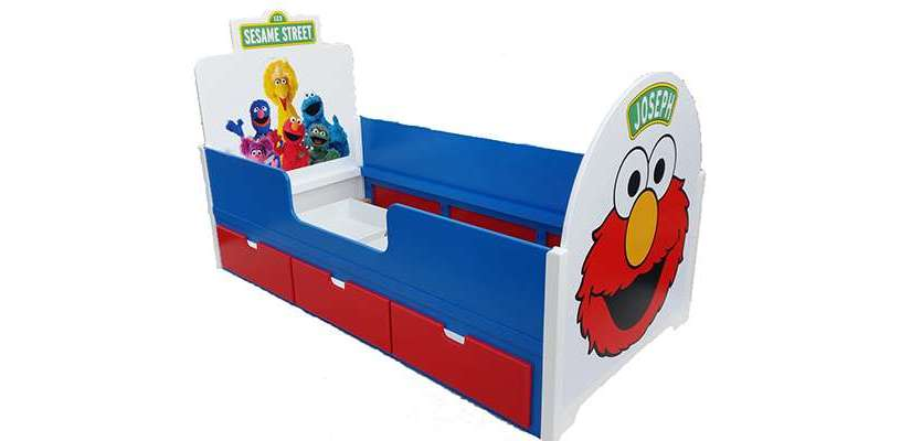 Sesame Street Themed SingleBed