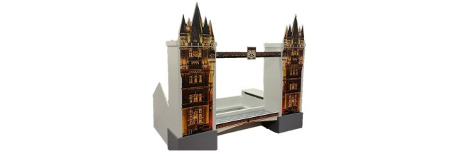 London Themed Children's Bed a Tower Bridge Effect with a Road and Twin Wardrobes Included