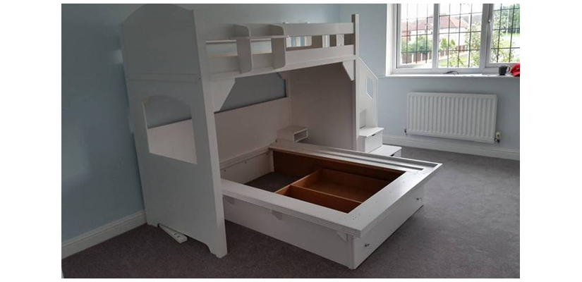 Double High Sleeper Twin This bed is £3000 excluding mattress delivery andinstallation.