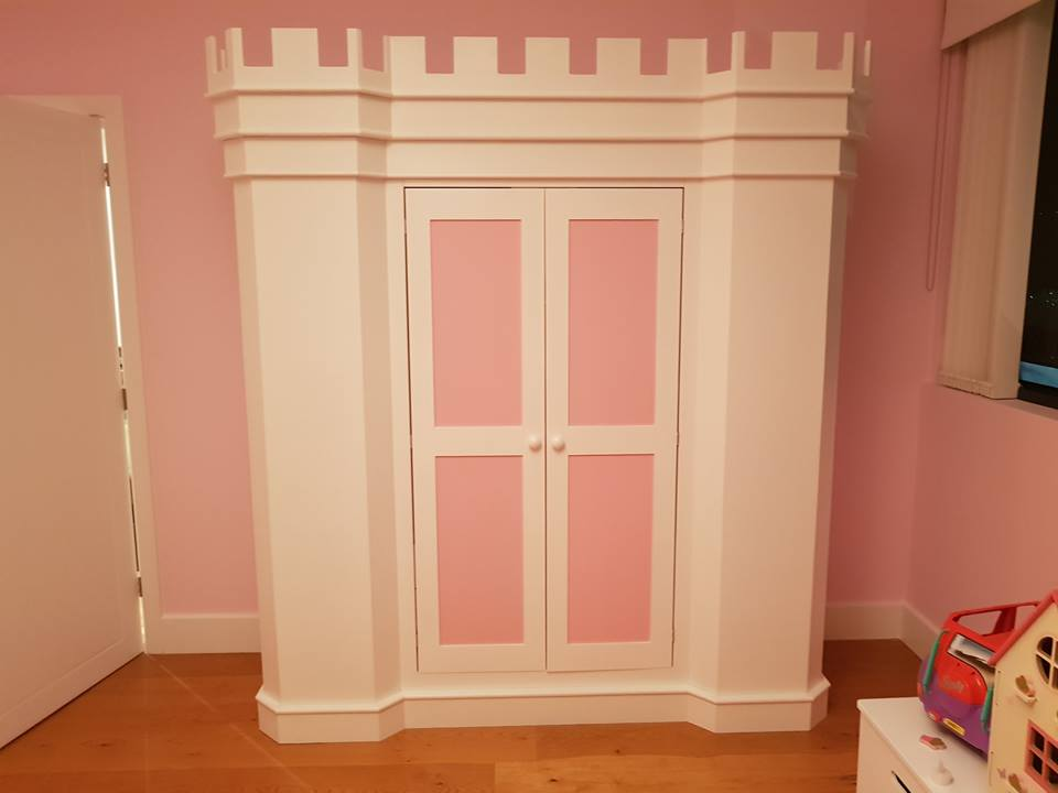 Princess Palace Theme Bed and Matching Wardrobe2