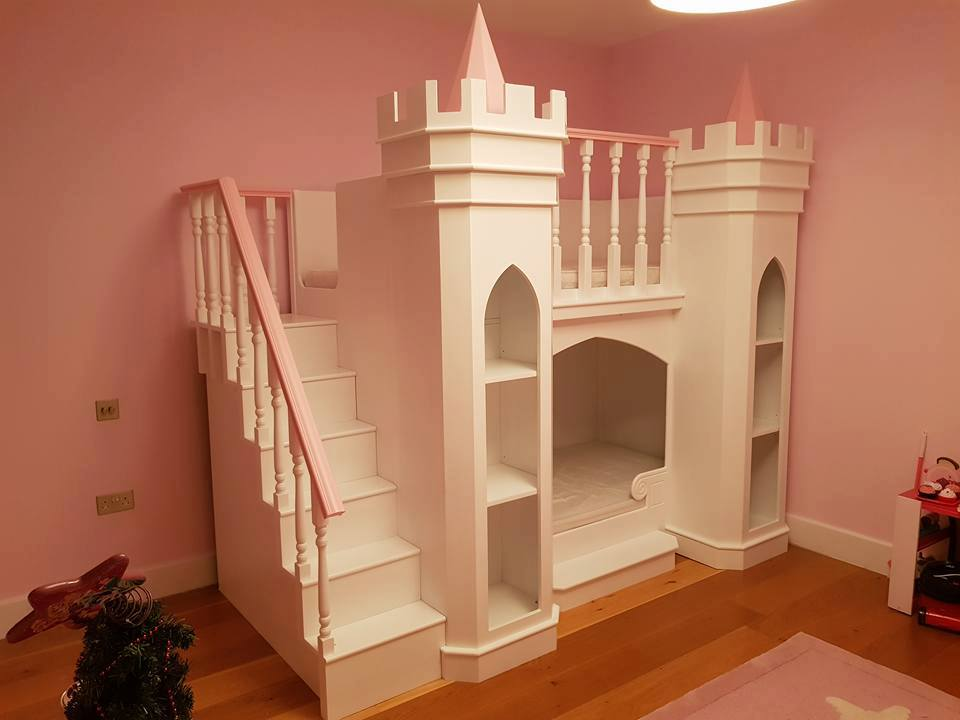 Princess Palace Theme Bed and Matching Wardrobe