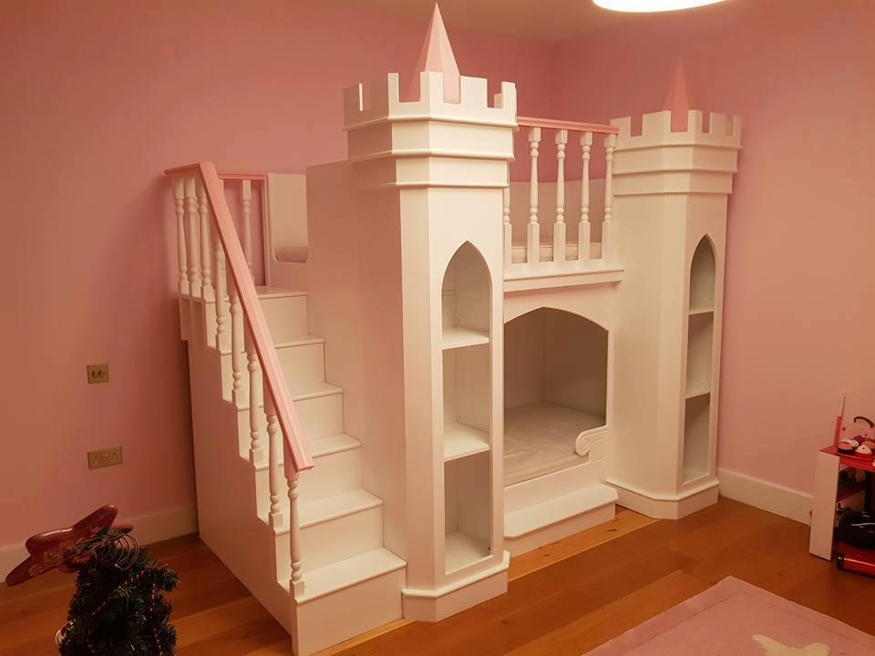 Princess Palace Theme Bed and Matching Wardrobe