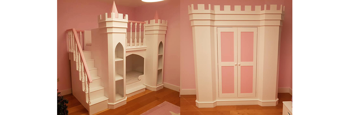 Princes Castle Bed With Wardrobe