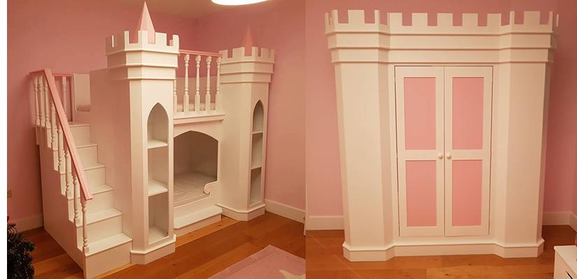 Princess Palace Theme Bed and MatchingWardrobe