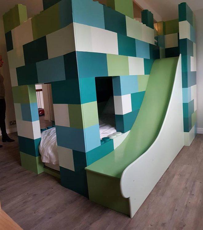 High Twin Sleeper Block Bed