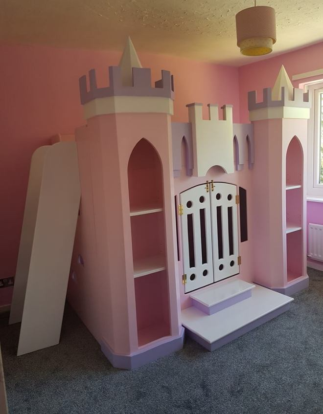 Princess Bed with Ladder