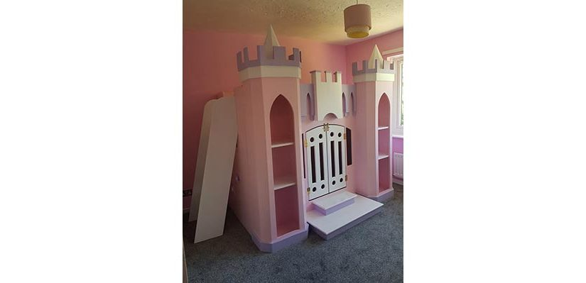 Twin Princess Palace Bed WithLadder